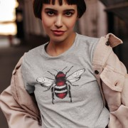 Red, White and Black Bee T-Shirt