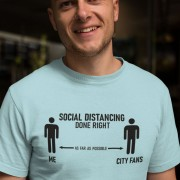 Social Distancing Done Right (City Fans) T-Shirt