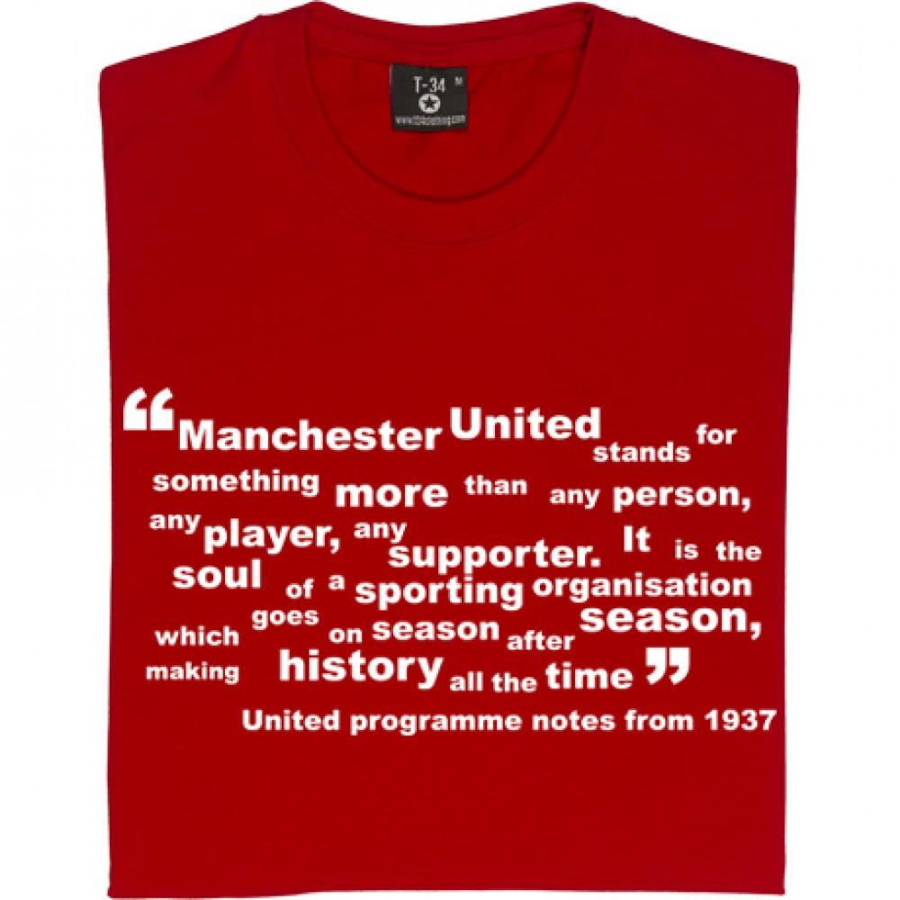 Manchester United Soul Quote T Shirt Tshirtsunited