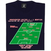 1968 European Cup Final Line-Up T-Shirt