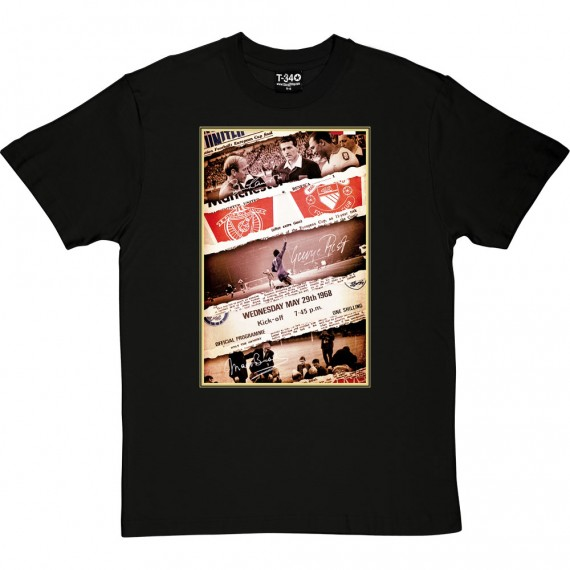 1968 European Cup Final Collage T-Shirt