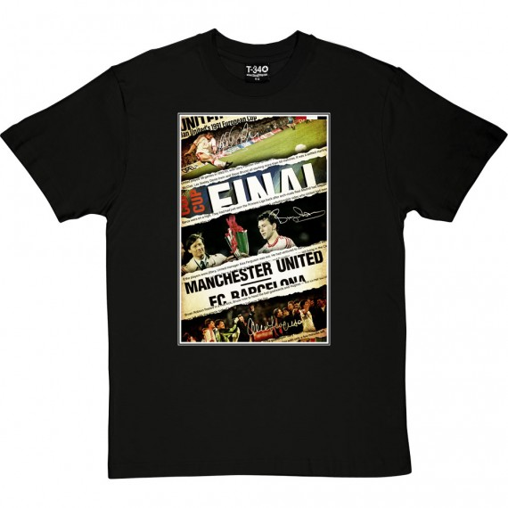 1991 European Winners Cup Final Collage T-Shirt