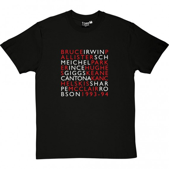 1993-94 Manchester United Squad T-Shirt