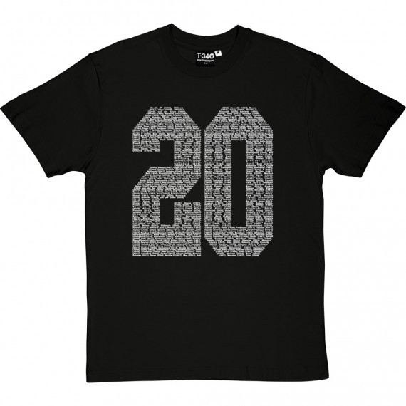 20 Times Manchester United Players T-Shirt