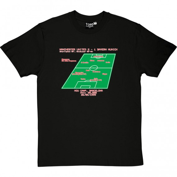 1999 Champions League Final Line-Up T-Shirt