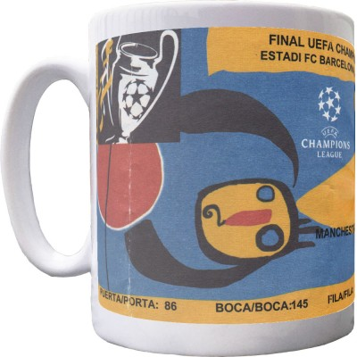 Barcelona 1999 European Cup Final Ticket Mug