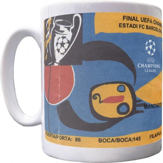 Barcelona 1999 European Cup Final Ticket Mug
