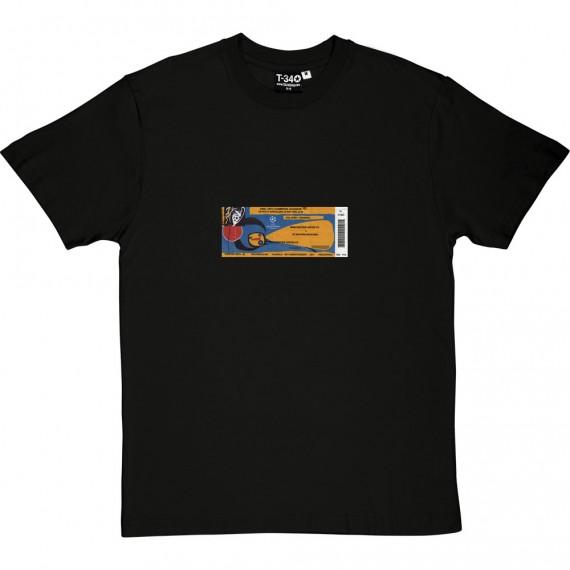 Barcelona 1999 European Cup Final Ticket T-Shirt
