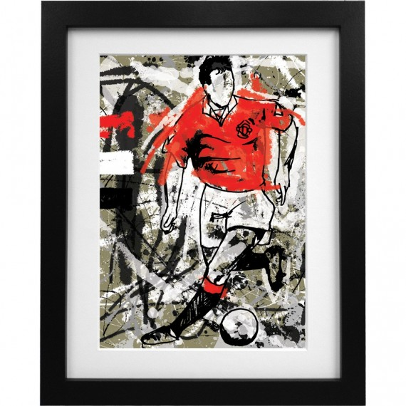 Bryan Robson Splash Art Print