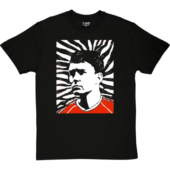 Bryan Robson Woodcut T-Shirt