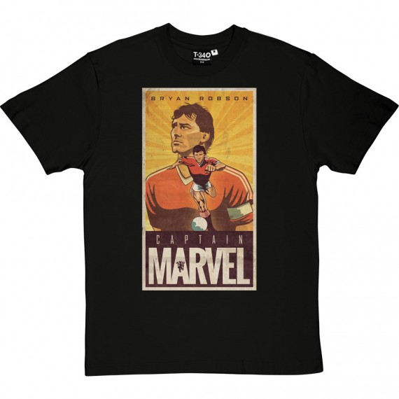 Bryan Robson: Captain Marvel T-Shirt