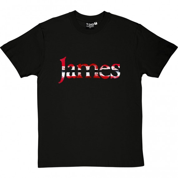 Daniel James Red, White and Black T-Shirt
