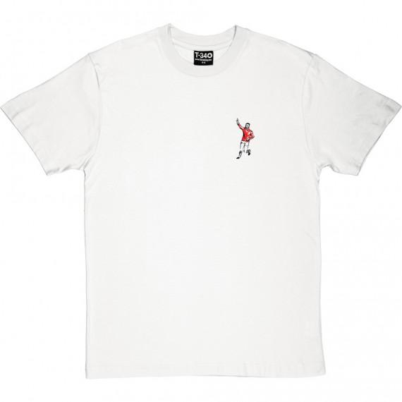 Denis Law Sketch (Pocket Print) T-Shirt