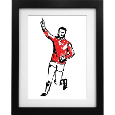 Denis Law Sketch Art Print