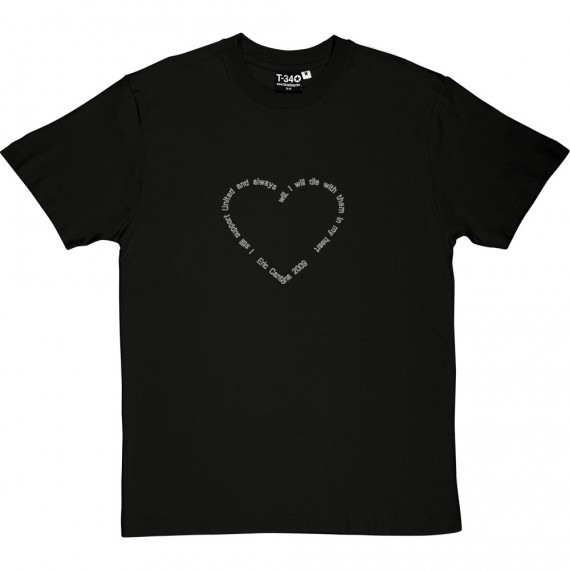 "Eric Cantona ""Heart"" Quote T-Shirt"
