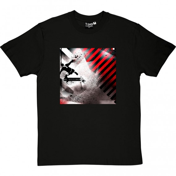 Eric Red, White and Black T-Shirt
