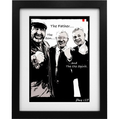 The Father, The Son and The Ole Spirit Art Print