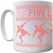 Five Cantonas Christmas Ceramic Mug