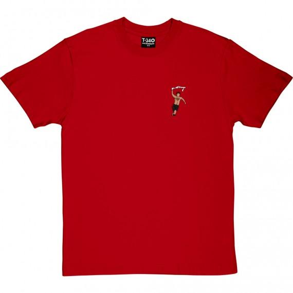 Giggs Celebration Sketch (Pocket Print) T-Shirt