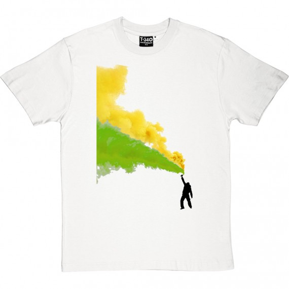Green and Gold Flares T-Shirt