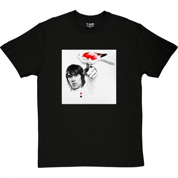 Ian Brown Red, White and Black Dove T-Shirt