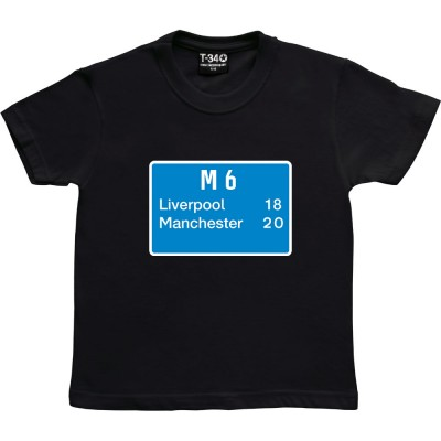 Liverpool 18, Manchester 20 Road Sign