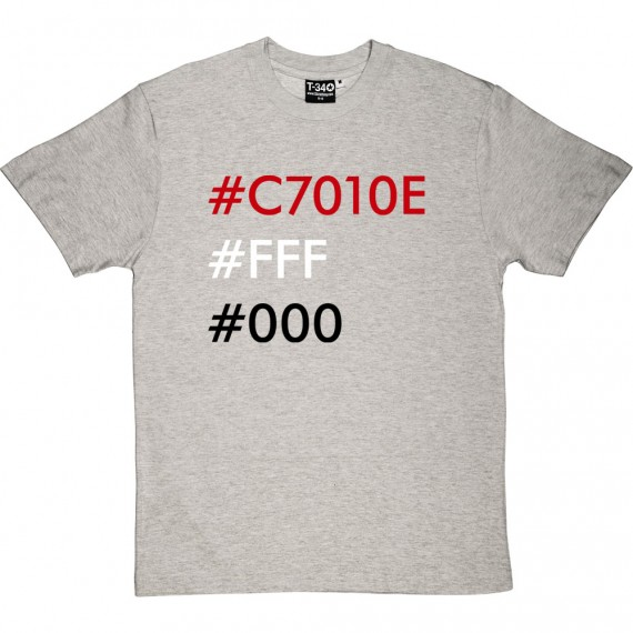 Manchester United Hex Codes T-Shirt