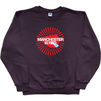Manchester Is Red Map