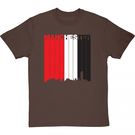 Manchester: Red, White and Black T-Shirt