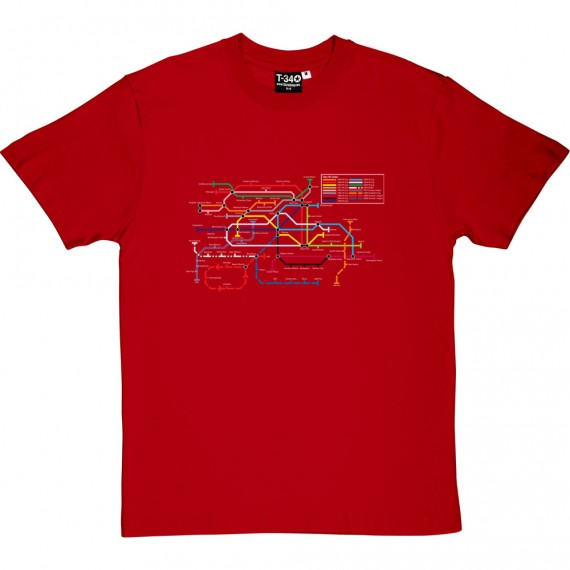 Manchester United Cup Victories Map T-Shirt