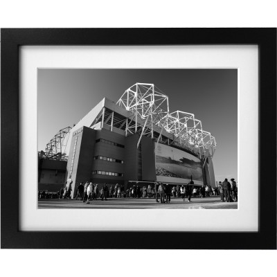 Old Trafford Match Day No1 (Black and White) Art Print