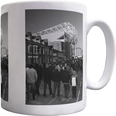 Old Trafford Match Day No2 (Black and White) Ceramic Mug