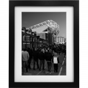 Old Trafford Match Day No2 (Black and White) Art Print
