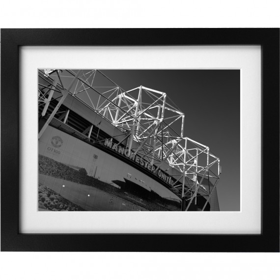 Old Trafford Match Day No3 (Black and White) Art Print