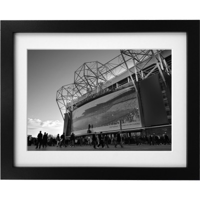 Old Trafford Match Day No6 (Black and White) Art Print