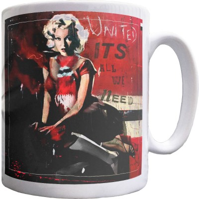 Marilyn Monroe Red, White and Black Ceramic Mug
