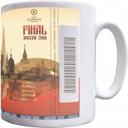 Moscow 2008 Champions League Final Ticket Ceramic Mug