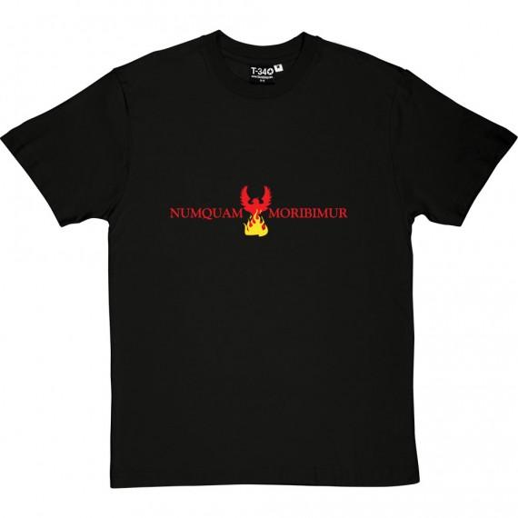 """Numquam Moribimur """"Never Die"""" Phoenix T-Shirt"""