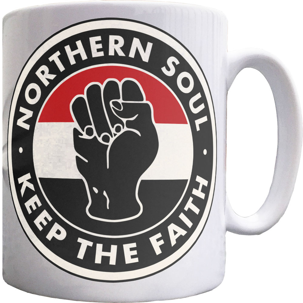 RED KEEP THE FAITH NORTHERN SOUL PATCH BLACK