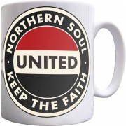 "Northern Soul ""Keep The Faith"" (Red, White and Black) Ceramic Mug"