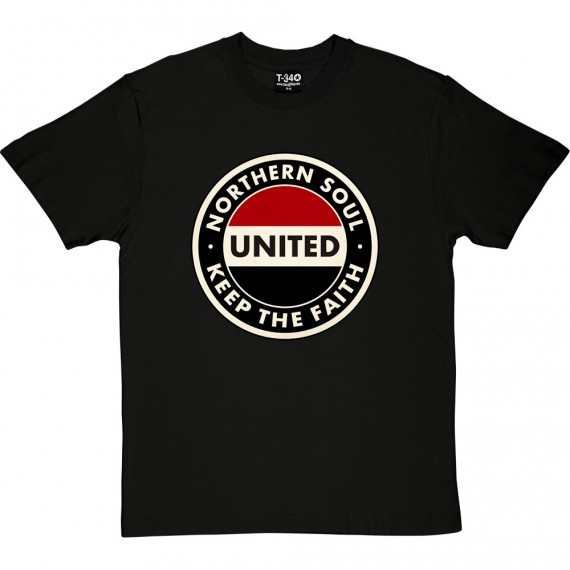 "Northern Soul ""Keep The Faith"" (Red, White and Black) T-Shirt"