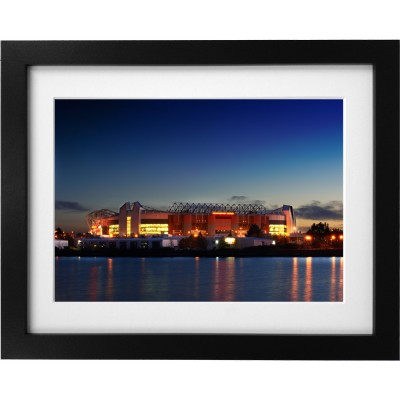 Old Trafford At Night Art Print