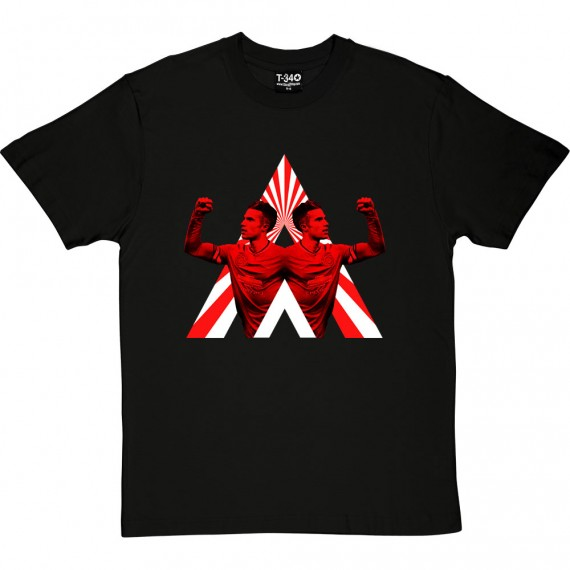 Robin van Persie (Red and) White Stripes T-Shirt