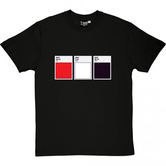 Red White and Black Swatches T-Shirt