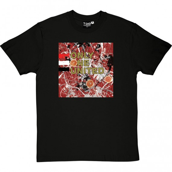 Red White and Black Drip Painting T-Shirt