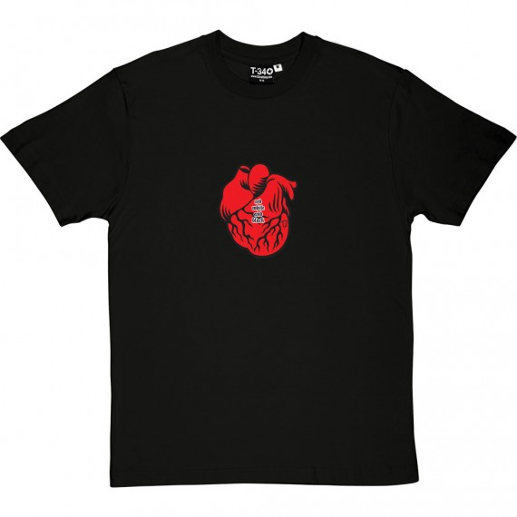 Red, White And Black Heart T-Shirt