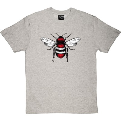 Red, White and Black Bee