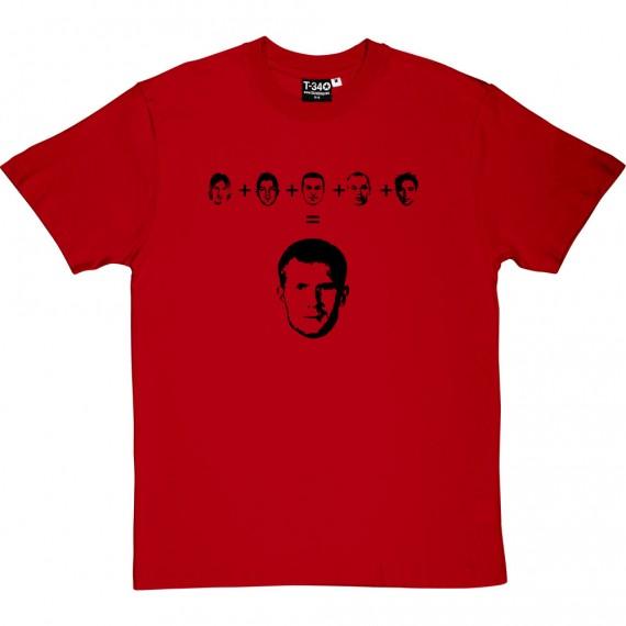 Messi + Villa + Pedro + Iniesta + Xavi = Scholes T-Shirt