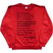 "Paul Scholes ""Big Game"" Quote T-Shirt"