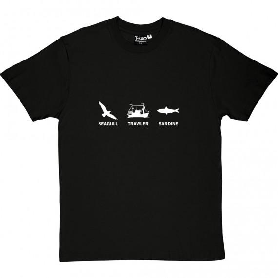 Seagull, Trawler, Sardine T-Shirt